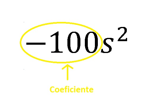 término algebraico coeficiente